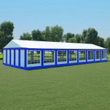Pavilion de grădină, albastru și alb, 6 x 16 m, PVC