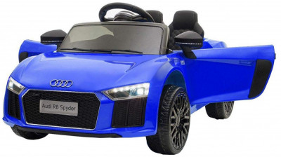 Masinuta electrica Premier Audi R8 Spyder, 12V, roti cauciuc EVA, scaun piele ecologica, albastra foto