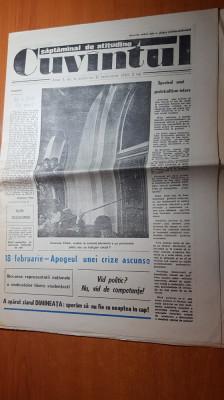 ziarul cuvantul 21 februarie 1990-asociatia fostilor detinuti politici foto