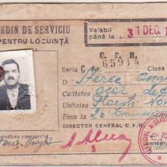 bnk  div CFR - ordin de serviciu pentru locuinta - 1949