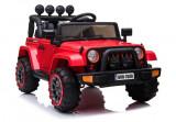 Cumpara ieftin Masinuta electrica Jeep BRD-7588 90W 12V cu Scaun Tapitat Rosu