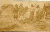 A522 Fotografie tiganci in satra Moldova primul razboi mondial