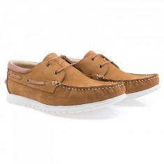 Pantofi barbati Caspian din piele naturala Cas-D11-TABA