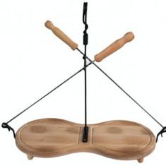 Platou lemn OSMORCA complect 2 ace frigarui 35cm si solnita Raki