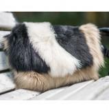 Plic femei din blana naturala, inchidere magnetica, 3 culori