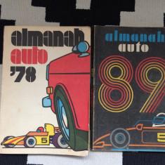 Almanah auto 1978 RSR plus cadou bonus almanah auto 89 deteriorat lipsa pagini, Alta editura