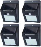 Set 4x Proiector exterior de perete cu Panou Solar si Senzor de Miscare