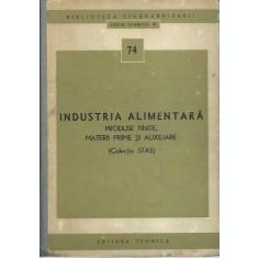 AS - INDUSTRIA ALIMENTARA PRODUSE FINITE, MATERII PRIME SI AUXILIARE