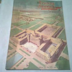 REVISTA STIINTE SI TEHNICA PENTRU TINERET NR.20/IANUARIE 1951