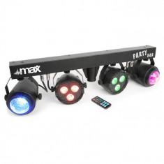MAX LED PartyBar 2xPAR-RGBW-LEDs + RGBW-Jellball inclusiv stativ și telecomandă IR