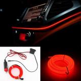 Cumpara ieftin Banda LED Auto De Interior, Rosu + Droser 12V, 2 Metri