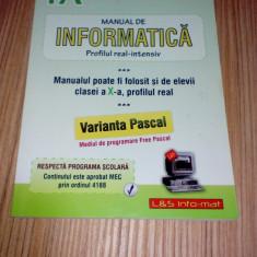 Tudor Sorin Manual de informatica Clasa 9 - varianta Pascal