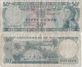 1971 , 50 cents ( P-64b ) - Fiji