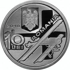 Moneda argint 100 de ani de la primul avion cu reacţie - Henri Coandă