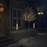 vidaXL Pom Crăciun, 600 LED-uri alb cald, flori de cireș, 300 cm