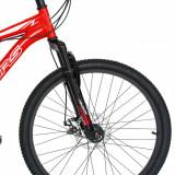 Bicicleta de munte Velors 2410A 24 frana disc 21 viteze rosualb