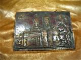 Biserica Trei Ierarhi Iasi, tablou metaloplastie cupru, colectie, cadou, vintage