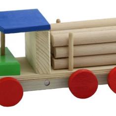 Camioneta transport busteni lemn multicolor