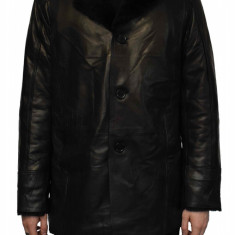 Haina blana naturala barbati, din piele naturala, marca Armadis, 09-01-19-140, negru
