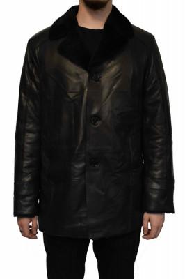 Haina blana naturala barbati, din piele naturala, marca Armadis, 09-01-19-140, negru foto