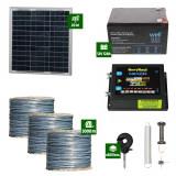 Gard electric Animale Sălbatice 6,6J putere cu Sârmă 3000m și Panou Solar