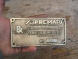 Emblema veche-placheta cupru-Paris -BR -PREMAFU-Sonnette Universelle