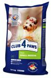 Hrana uscata pentru caini adulti de talie mica, Premium, Club 4 Paws, 14 kg
