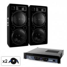 "Malone DJ PA Set Malone 2.0 ""Bass"" cu amplificator, difuzor și cablu 2000W"