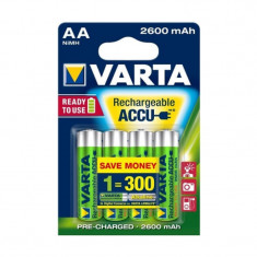 Acumulatori Varta R6 (AA), 2600 mAh, 4 bucati
