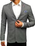 Sacou casual pentru bărbat negru Bolf 0158A