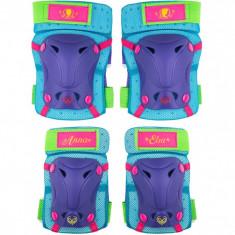 Set protectie Skate Cotiere Genunchiere Frozen Seven, prindere velcro