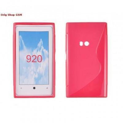 Husa silicon S-line Nokia Lumia 920 Pink foto