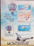 Cumpara ieftin Montserrat 1983 avioane zepelin baloane transporturi aeriene bloc  MNH