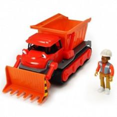 Buldozer Dickie Toys Bob Constructorul Muck cu 1 figurina Leo