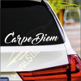 Carpe Diem -Stickere Auto-Cod:ESV-086 -Dim : 25 cm. x 6.2 cm.
