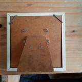 Rama foto veche, lemn, 10/10 cm