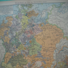 HOPCT DOCUMENT-HARTA VECHE NR 40 GERMANIA REFORME 1547 D=320/250 MM LEIPZIG 1918