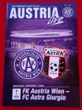 Program meci fotbal AUSTRIA VIENA-ASTRA GIURGIU(Europa League 24.11.2016)