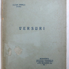 VERSURI de ELENA FARAGO ( FATMA ) , 1906 , EDITIA I *
