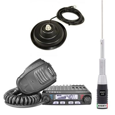 Statie radio CB Avanti Supremo (versiunea PRO) cu antena Cento si baza magnetica foto