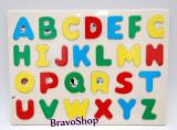 Tabla din lemn cu Alfabet (litere colorate) - Jucarie educativa pentru copii!