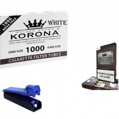 1 kg tutun din tigari de foi nu vrac sau firicel  tuburi tigari korona si aparat