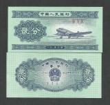 CHINA   2  FEN   1953   UNC   [1]   P- 861 b , 3 cifre romane ,  necirculata