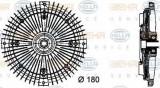 Vascocuplaj / Cupla ventilator radiator MERCEDES SPRINTER 2-t platou / sasiu (901, 902) (1995 - 2006) HELLA 8MV 376 732-491