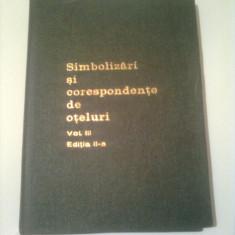 SIMBOLIZARI SI CORESPONDENTE DE OTELURI - R. SLATINEANU ( vol.3 )