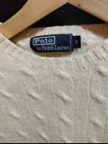 Pulover Ralph Lauren 100% lana, M, Crem, Polo Ralph Lauren