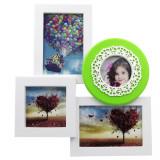 Cumpara ieftin Ramă foto colaj 4 poze - verde
