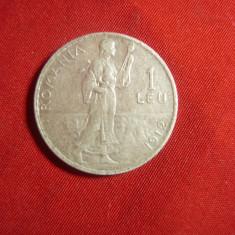 Moneda 1 leu 1912 Carol I argint ,cal.F.Buna
