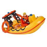 Barca Neptun cu figurina Pompierul Sam in costum de scafandru