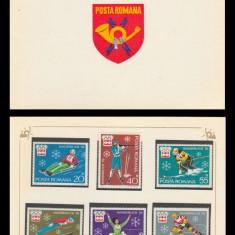 1976 Romania, J.O. de Iarna - Innsbruck LP 901, carnet filatelic de prezentare